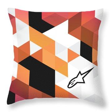 Alpinestars Carbon Fractals Throw Pillow