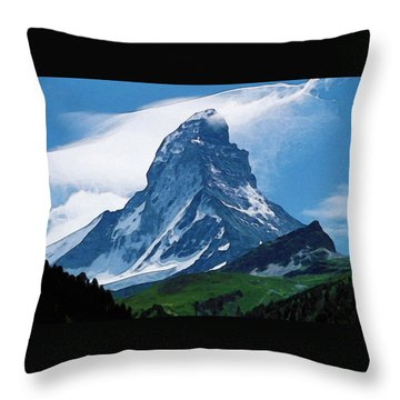Alps Throw Pillow
