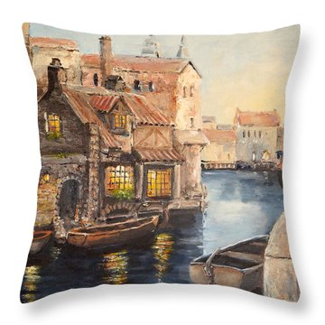 Alsace At Dusk Throw Pillow
