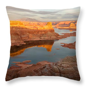 Throw Pillow featuring the photograph Alstrom Point Panorama by Dustin LeFevre