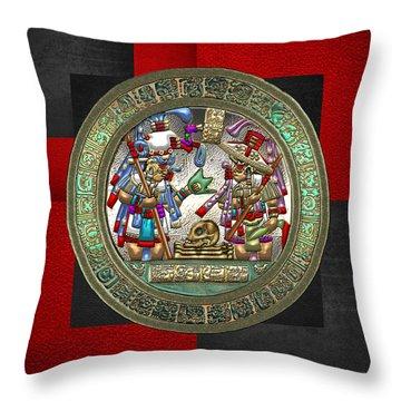 Altar 5 From Tikal Throw Pillow