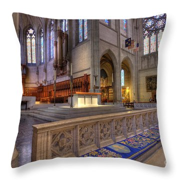 Altar At Grace Cathedral Throw Pillow