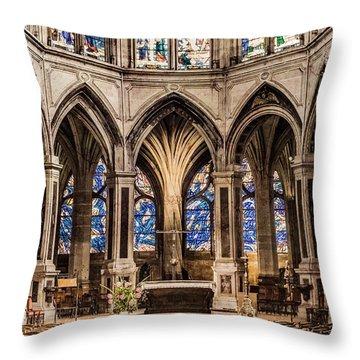 Paris, France - Altar - Saint-severin Throw Pillow