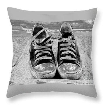 Old Sneakers. Throw Pillow by Don Pedro De Gracia