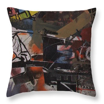Altered One-off #1 Throw Pillow