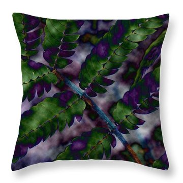 Altered Plant Throw Pillow