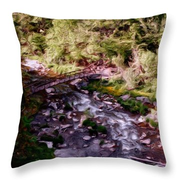Altered States At The Park Throw Pillow by David Lane