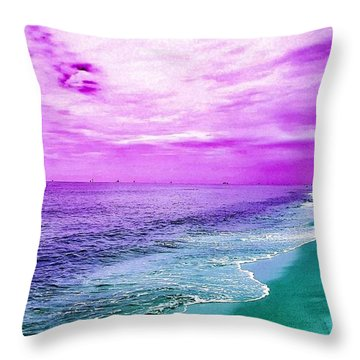 Alternate Beach Escape Throw Pillow