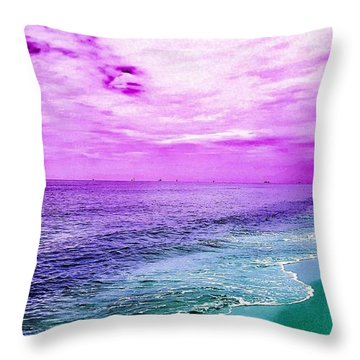 Alternate Beach Escape Throw Pillow