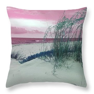 Alternate Beachscape  Throw Pillow by Rachel Hannah
