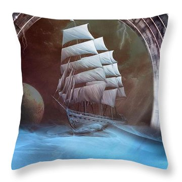 Alternate Perspectives Throw Pillow by Mario Carini