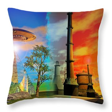 Throw Pillow featuring the digital art Alternate Realities by Shadowlea Is