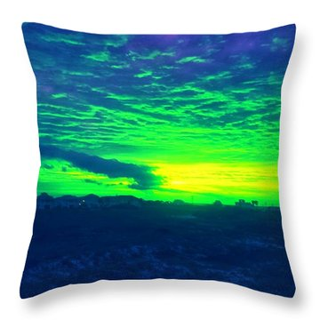 Alternate Sunset Throw Pillow