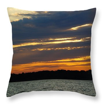 Alum Creek Sunset Throw Pillow