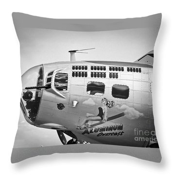 Throw Pillow featuring the photograph Aluminum Overcast - B-17 by Ricky L Jones