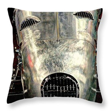 Aluminum Roadster  Throw Pillow