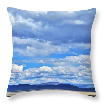 Sky Over Alvord Playa Throw Pillow