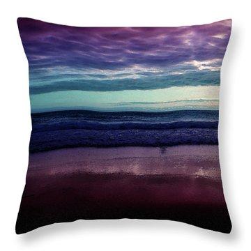Always A Horizon Throw Pillow by Bonnie Bruno