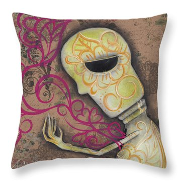 Always Alone  Throw Pillow by Abril Andrade Griffith