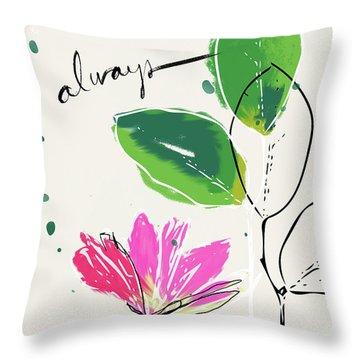 Always- Art By Linda Woods Throw Pillow