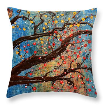 Throw Pillow featuring the mixed media Always Dream by Natalie Briney
