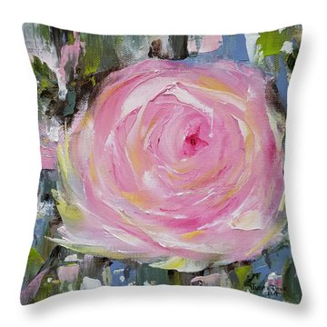 Throw Pillow featuring the painting Always by Judith Rhue