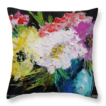 Throw Pillow featuring the painting Always Nice To Come Home To by John Williams