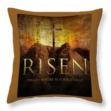 Always Risen Throw Pillow