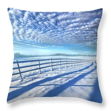 Throw Pillow featuring the photograph Always Whiter On The Other Side Of The Fence by Phil Koch