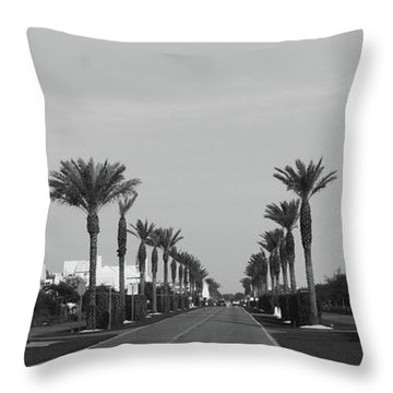 Alys Beach Entrance Throw Pillow by Megan Cohen