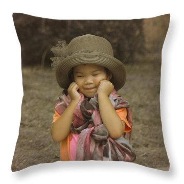 am I cute Throw Pillow by Michelle Meenawong