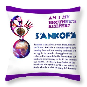 Am I My Brother's Keeper? Throw Pillow