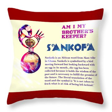 Am I My Brother's Keeper? Summer Throw Pillow