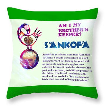 Am I My Brother's Keeper?  Villatic Throw Pillow