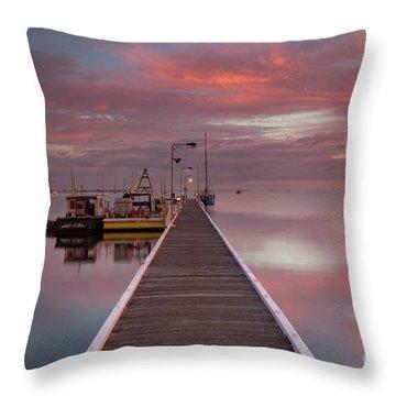 A.m. Solitude Throw Pillow