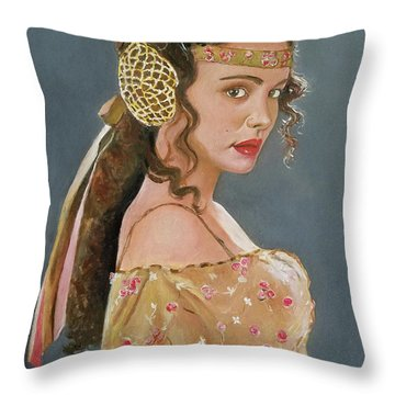 Amadala Throw Pillow by Tom Carlton