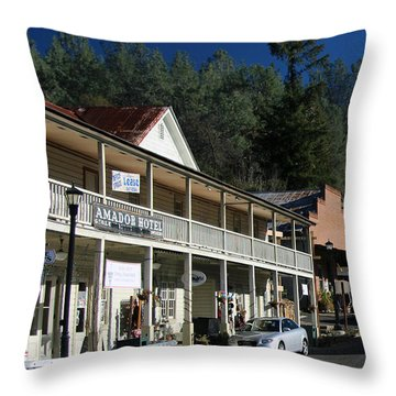 Amador City Main Street Throw Pillow