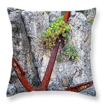 Throw Pillow featuring the digital art Amalfi Coast - Positano, Italy by Joseph Hendrix