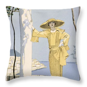 Amalfi Throw Pillow by Georges Barbier