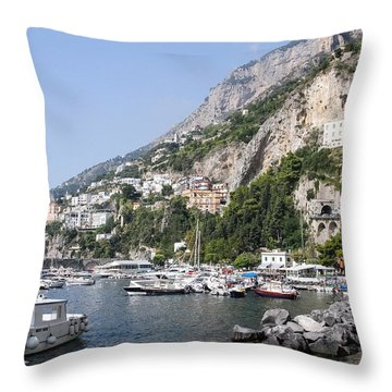 Amalfi Coast Italy Throw Pillow