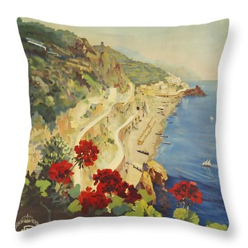 Amalfi Napoli Throw Pillow