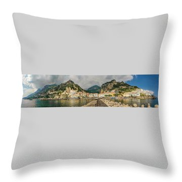 Throw Pillow featuring the photograph Amalfi by Steven Sparks