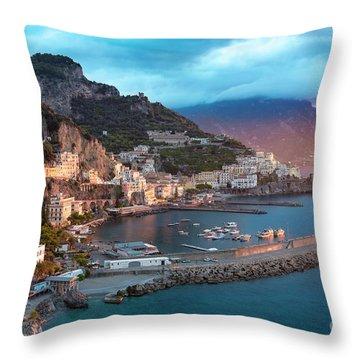 Amalfi Sunrise Throw Pillow