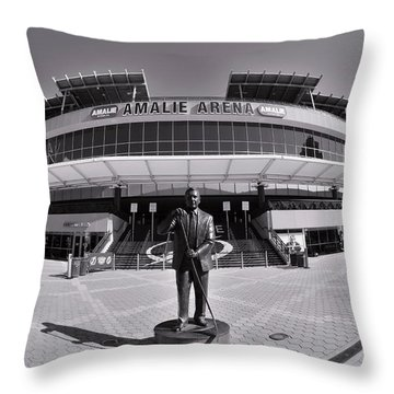 Amalie Arena Black And White Throw Pillow