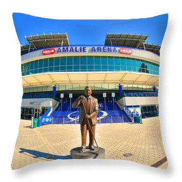 Amalie Arena Throw Pillow