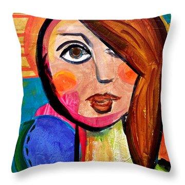 Amanda - Vivid Vixen 1 Throw Pillow