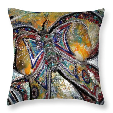 Amanda - My Precious Butterfly Supporter Throw Pillow