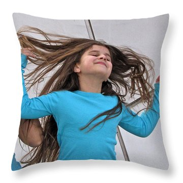 Throw Pillow featuring the photograph Amanda by Sean Griffin