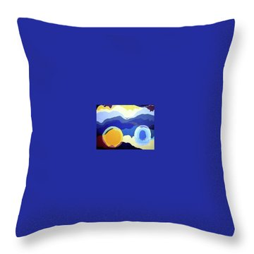 Amandas Abstract Throw Pillow