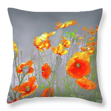 Amanecer En Primavera Throw Pillow